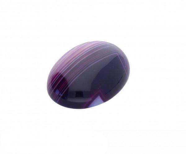 Cabochon, oval, 1 Stück, 25x18x7mm, Edelstein lila Achat