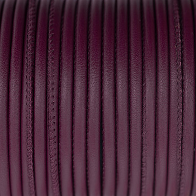 Premium Nappaleder rund gesäumt, 100cm, 4mm, BORDEAUX-VIOLETT