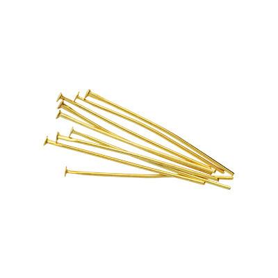Nietstifte (50 Stück), 35x0,7mm, Stäbchen (Stiftform), goldfarben, Metall