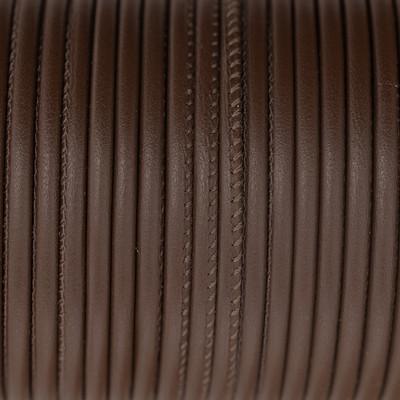 Premium Nappaleder rund gesäumt, 100cm, 4mm, ROTBRAUN