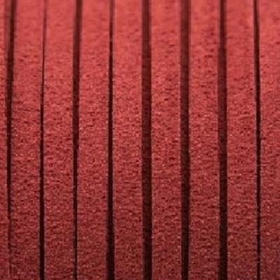 Textilband in Wildlederoptik 2,5mm - WEINROT