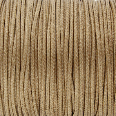 Gewachstes Schmuckband aus Baumwolle, 100cm, 1,5mm breit, TAUPE