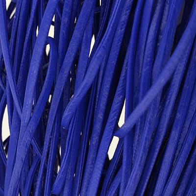 Kunstleder flach gesäumt (100cm), 2x1mm breit - BLAU LACK