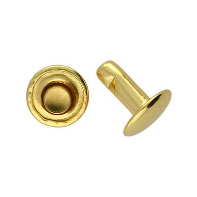 Doppel Hohlniete in Standardqualität (Doppelhohlniete) 8 x 8mm, Unterteil geschlossen