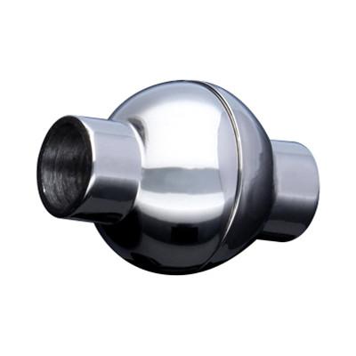 Magnetverschluss, 5mm, 17x13mm, Edelstahl, silberfarben