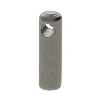 Endkappe mit Öse, 7x2mm, Loch-Ø 1,5mm, Edelstahl, stahlfarben