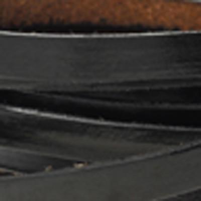 Flachriemen - Rindsleder, SCHWARZ | ca. 7x2 mm