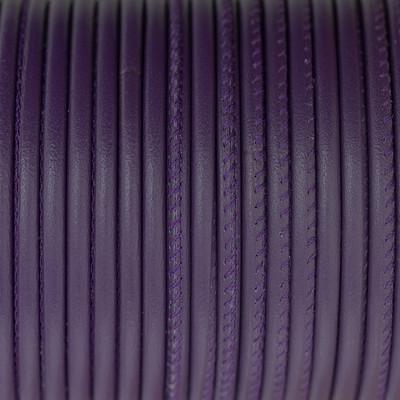 Premium Nappaleder rund gesäumt, 100cm, 4mm, LILA