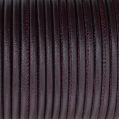 Premium Nappaleder rund gesäumt, 100cm, 4mm, BURGUND
