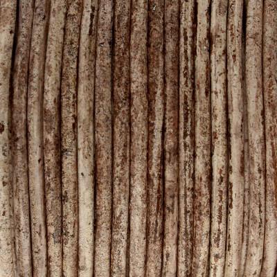Rundriemen, Lederschnur, 100cm, 3mm, BRAUN meliert