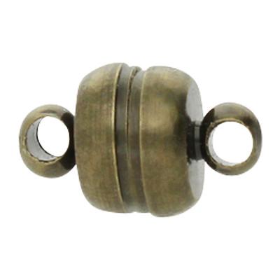Magnetverschluss, Öse 1,5mm, 11 x76 mm, Bronzefarben
