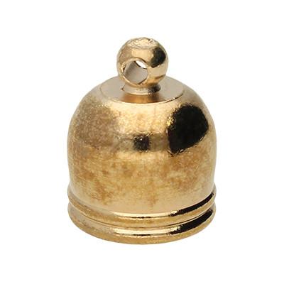 Endkappe mit Öse, 12x10mm, Loch-Ø 8,0mm, Metall, roségoldfarben