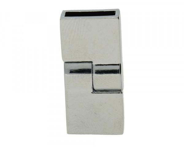 Magnetverschluss, 10x2,5mm, 26x12mm, Metall, platinfarben