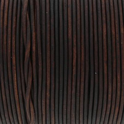 Rundriemen, Lederschnur, 100cm, 1,5mm, VINTAGE CHOCOLATE TORTE