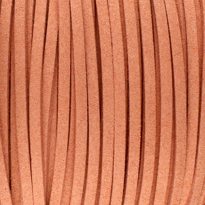 Textilband in Wildlederoptik (100cm), 3,0mm breit - TERRAKOTTA