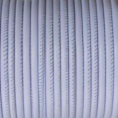 Nappaleder rund gesäumt, 100cm, 4mm, PASTELL LAVENDEL