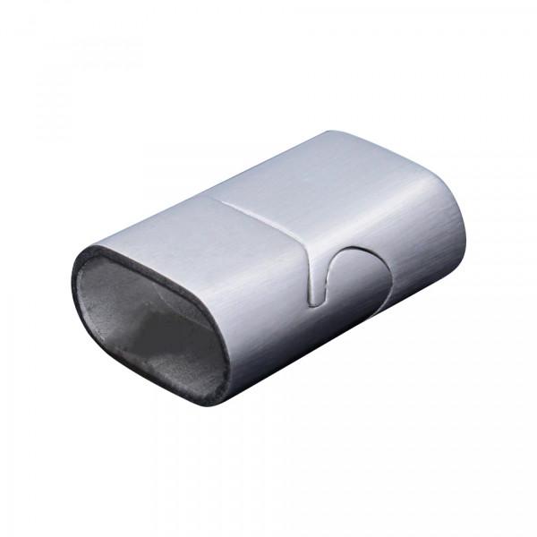 Magnetverschluss, 20x14mm, innen 11,5x5,5mm, Edelstahl matt