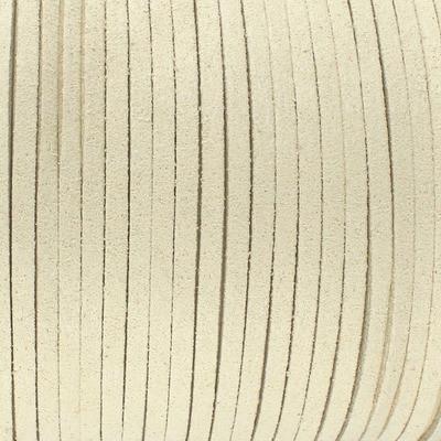 Textilband in Wildlederoptik (100cm), 3,0mm breit - BEIGEGRAU