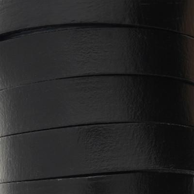 Flachriemen Rindsleder, 100cm, 10x2,5mm, SCHWARZ