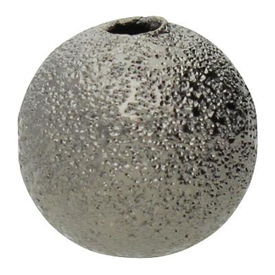 Perle, Sternenstauboptik, innen 1,8mm, Ø 10 mm, graphitfarben, Metall
