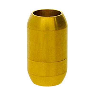 Magnetverschluss, 8mm, 21x12mm, Edelstahl, matt, gold