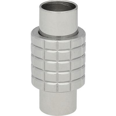 Magnetverschluss, 6mm, 10x20mm, Edelstahl, silberfarben