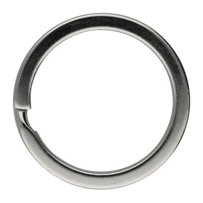 Schlüsselring, Spiralring, rund, 1 Stück, 33x3mm, Metall, silberfarben