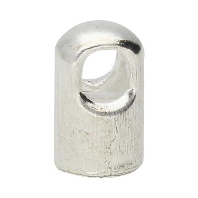 Endkappe mit Öse (2 Stück), 5x8mm, Loch-Ø 4,0mm, Metall, silberfarben
