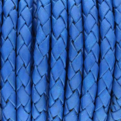 Lederband rund geflochten, 100cm, 4mm, CURACAO