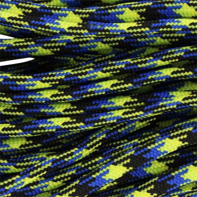 Segeltau, Reepschnur oval, 100cm, 4mm, BLAU-GELB-SCHWARZ