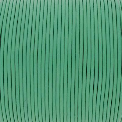 Rundriemen, Lederschnur, 100cm, 1,5mm, PASTELL MINTGRÜN