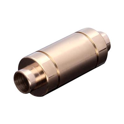 Magnetverschluss, 4mm, 24x9mm, Edelstahl, matt, roségold