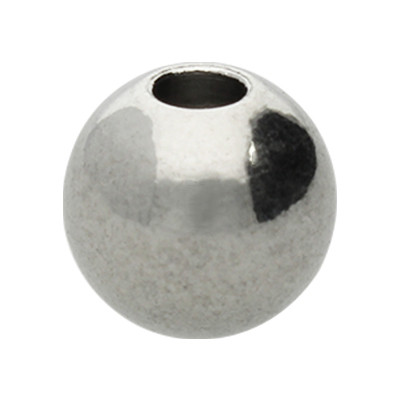 Perle aus Edelstahl, innen 2,6mm, 7x8mm