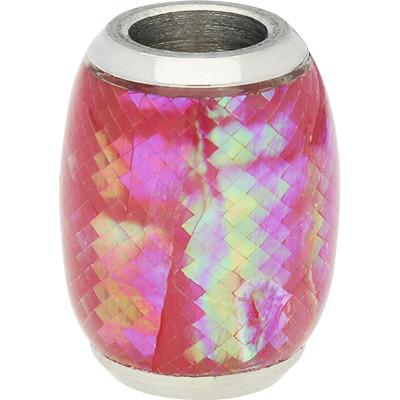 Magnetverschluss, 6mm, 16x12mm, Edelstahl, echte Muschel, pink changierend