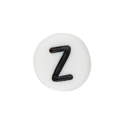 Acrylbuchstabe Z (10 Stück), innen 1mm, 7x4mm, schwarz-weiß