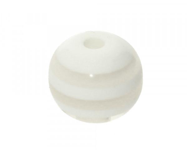 Perle,10x9mm, innen 1,8mm, weiss, Acryl