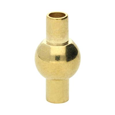 Magnetverschluss, 3mm, 16x8mm, Metall, goldfarben