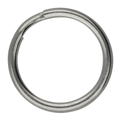 Schlüsselring, Spiralring, rund, 1 Stück, 15x2mm, Edelstahl