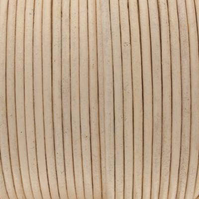 Rundriemen, Lederschnur, 100cm, 2mm, ROSÈ CHAMPAGNER