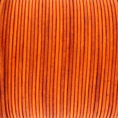 Rundriemen, Lederschnur, 100cm, 1,5mm, SPICY ORANGE VINTAGE