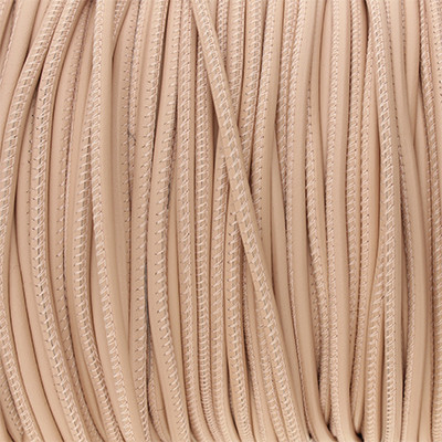 Premium Nappaleder rund gesäumt, 100cm, 2,5mm, ROSÉ CHAMPAGNER
