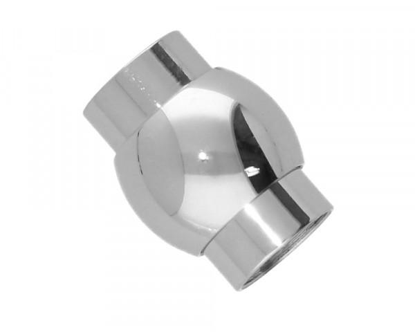 Magnetverschluss, innen 6mm, 13x10mm, Edelstahl
