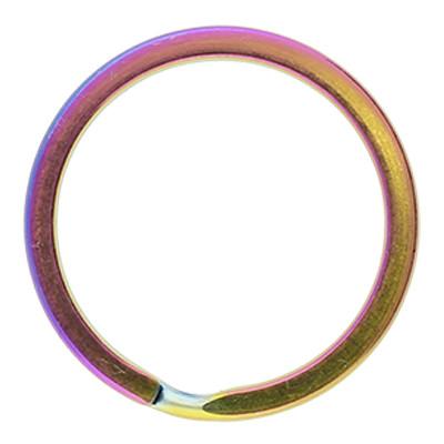 Schlüsselring, Spiralring, rund, 1 Stück, 30x2,5mm, edelstahl, multicolor