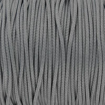 Gewachstes Schmuckband aus Baumwolle, 100cm, 2mm breit, GRAU