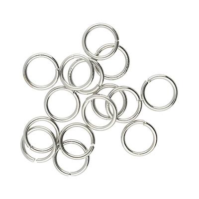 Bindering, rund, 10 Stück, 10mm, innen 8mm, Metall, platinfarben