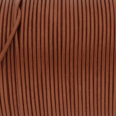 Rundriemen, Lederschnur, 100cm, 1,5mm, METALLIC POTTERS CLAY