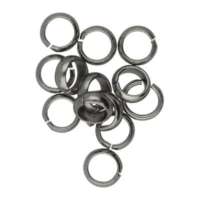 Bindering, rund, 10 Stück, 7mm, innen 5mm, Edelstahl, platinfarben