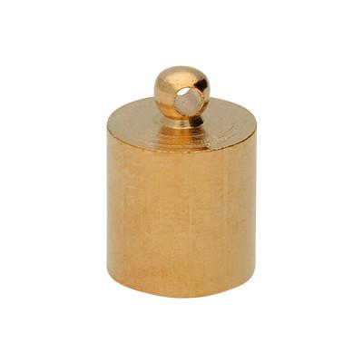 Endkappe mit Öse (2 Stück), 13x9mm, Loch-Ø 8,0mm, Metall, roségoldfarben