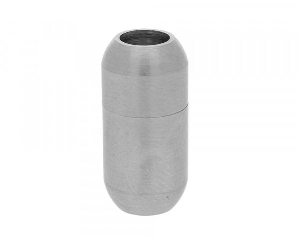 Magnetverschluss, 5mm, 18x9mm, Edelstahl matt