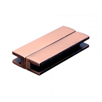 Magnetverschluss, 39x6x3mm, 39x18x7mm, Metall, kupferfarben